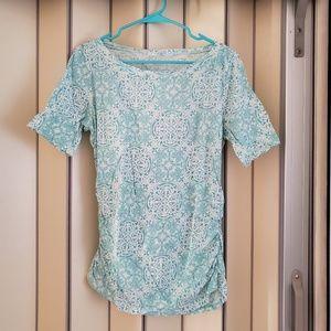 Round Neck Boho Print T-Shirt